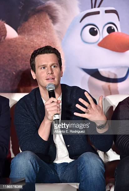 Actor Jonathan Groff as seen at the FROZEN 2 Global Press Conference at W Hollywood on November 09 2019 in Hollywood California