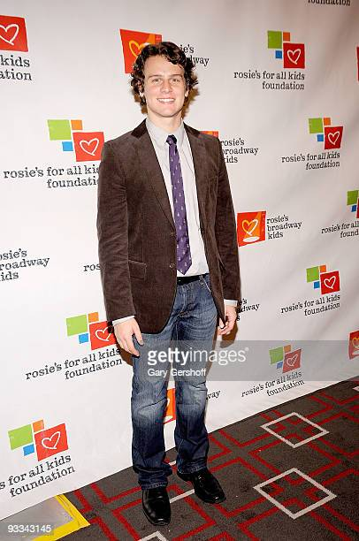 Actor Jonathan Groff attends Rosie's Broadway Extravaganza at the Palace Theatre on November 23 2009 in New York City