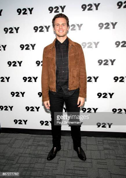 Actor Jonathan Groff attends the 92Y Talks at 92nd Street Y on October 3 2017 in New York City