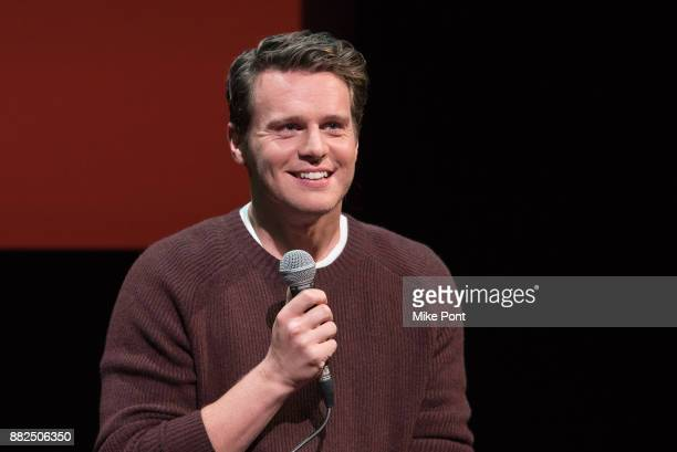 Actor Jonathan Groff attends the SAGAFTRA Foundation Conversations 'Mindhunter' at SAGAFTRA Foundation Robin Williams Center on November 29 2017 in...