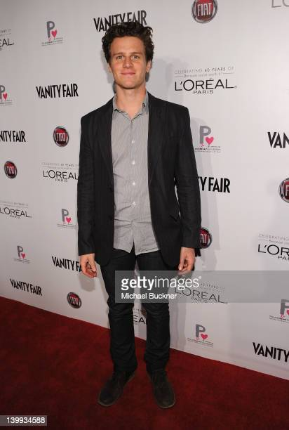 Actor Jonathan Groff attends Vanity Fair L'Oréal Paris Fiathosted DJ Night in support of The Pablove Foundation on Saturday on February 25 2012 in...