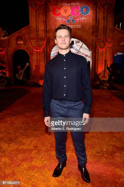 Actor Jonathan Groff of 'Olaf's Frozen Adventure' at the US Premiere of DisneyPixar's 'Coco' at the El Capitan Theatre on November 8 in Hollywood...