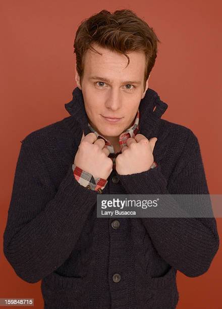 Actor Jonathan Groff poses for a portrait during the 2013 Sundance Film Festival at the Getty Images Portrait Studio at Village at the Lift on...