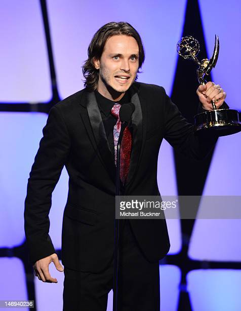 Actor Jonathan Jackson accepts the award for Outstanding Supporting Actor onstage during The 39th Annual Daytime Emmy Awards broadcasted on HLN held...