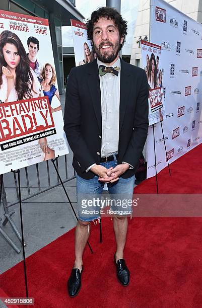 Actor Jonathan Kite arrives to the premiere of Mad Chance's Behaving Badly at the ArcLight Hollywood on July 29 2014 in Hollywood California