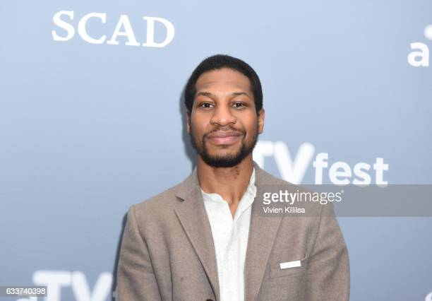 Actor Jonathan Majors attends a press junket for When We Rise on Day Two of aTVfest 2017 presented by SCAD on February 3 2017 in Atlanta Georgia