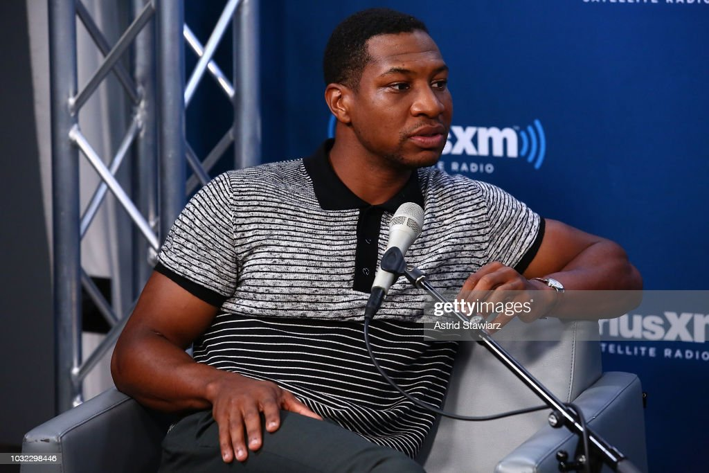 Actor Jonathan Majors attends SiriusXM's Town Hall with Matthew McConaughey And The Cast Of 'White Boy Rick' on September 12, 2018 in New York City.