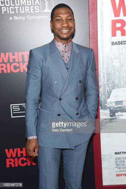 Actor Jonathan Majors attends the New York Special Screening of 'White Boy Rick' at the Paris Theater on September 12 2018 in New York City