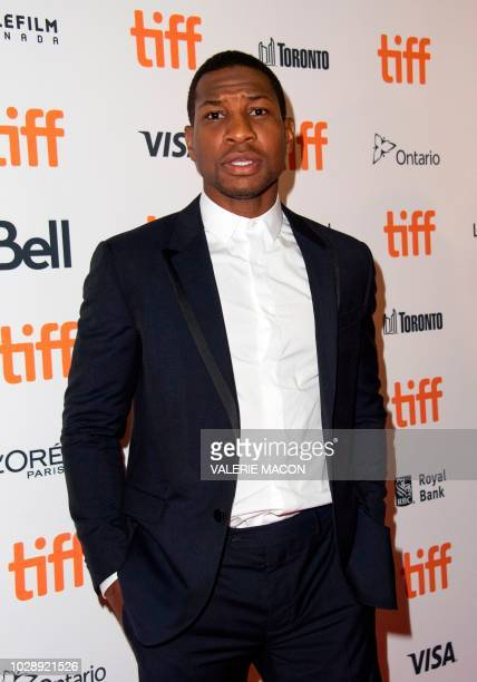 US actor Jonathan Majors attends the premiere of White Boy Rick during the Toronto International Film Festival on September 7 in Toronto Ontario...