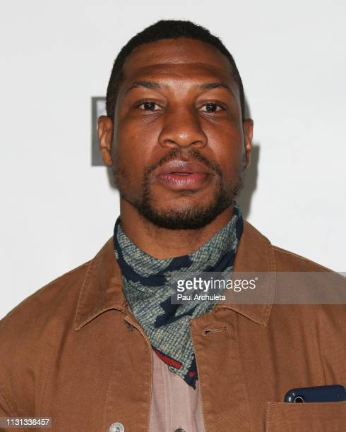 Actor Jonathan Majors attends the USIreland Alliance 14th Annual Oscar Wilde Awards at Bad Robot on February 21 2019 in Santa Monica California