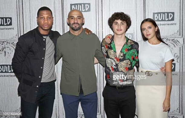 "Actor Jonathan Majors, director Yann Demange, actors Richie Merritt and Bel Powley attend the Build Series to discuss ""White Boy Rick"" at Build..."