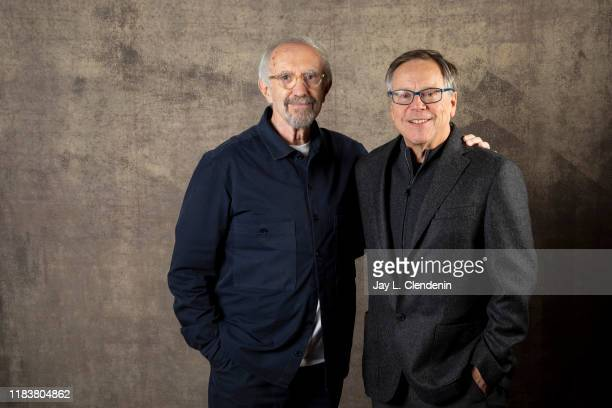 Actor Jonathan Pryce and director Fernando Meirelles from 'The Two Popes' are photographed for Los Angeles Times on September 9 2019 at the Toronto...