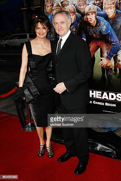 Actor Jonathan Pryce and wife actress Kate Fahy arrive to the premiere of Universal Pictures' Leatherheads held at Grauman's Chinese Theatre on March...