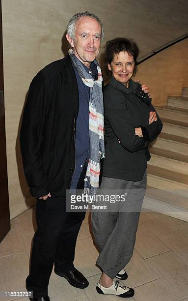 Actor Jonathan Pryce and wife Kate Fahy attend an after party following press night of the new West End production of Simon Gray's Butley at Axis at...