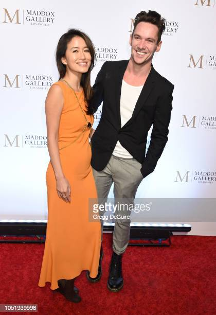 Actor Jonathan Rhys Meyers and wife Mara Lane attend the ViP Opening of Maddox Gallery Exhibition 'Best Of British' at Maddox Gallery on October 11...