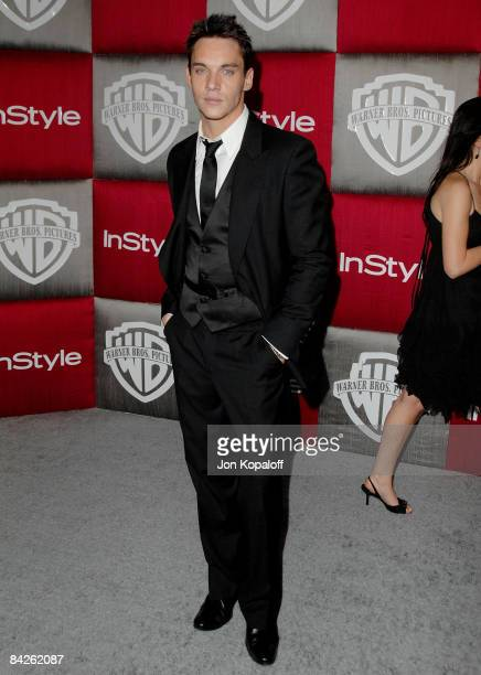Actor Jonathan Rhys Meyers arrives at the 66th Annual Golden Globe Awards InStyle Warner Bros Official After Party at the Oasis Court at The Beverly...