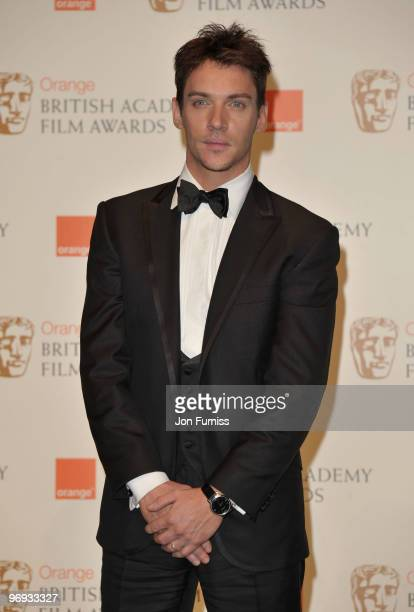 Actor Jonathan Rhys Meyers during the Orange British Academy Film Awards 2010 at the Royal Opera House on February 21 2010 in London England