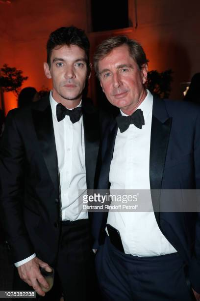 Actor Jonathan RhysMeyers and Prince CharlesHenri de Lobkowicz attend the Celebrazione Party By Chopard and Generali To Honor The 75th Venice Film...