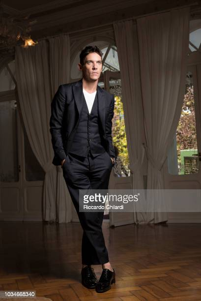 Actor Jonathan RhysMeyers is photographed for Self Assignment on August 2018 in Venice Italy