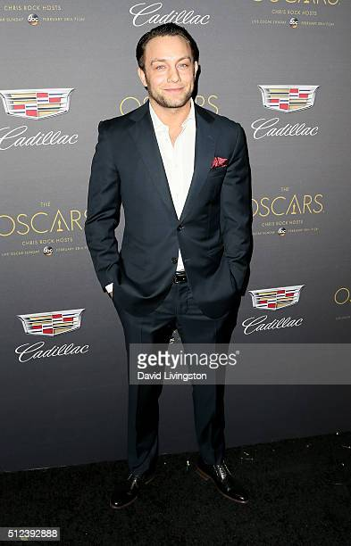 Actor Jonathan Sadowski attends Cadillac's PreOscar Event at Chateau Marmont on February 25 2016 in Los Angeles California