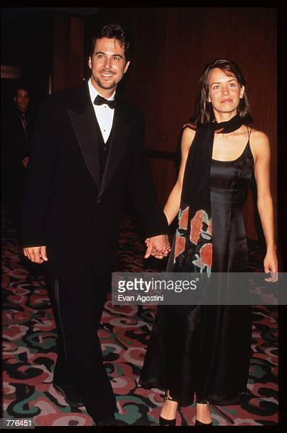 Actor Jonathan Silverman stands with his girlfriend Anna Lee at the fourth annual Michael Awards fashion gala April 22 1996 in New York City The...