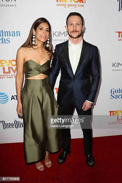 Actor Jonathan Tucker and Tara Tucker arrive at the TrevorLIVE Los Angeles 2016 Fundraiser at The Beverly Hilton Hotel on December 4 2016 in Beverly...