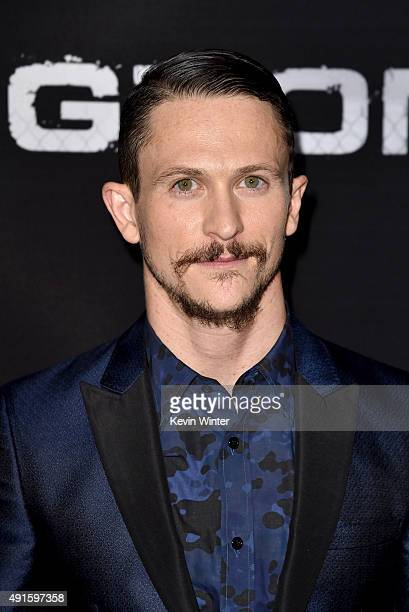 Actor Jonathan Tucker attends the premiere of DIRECTV's Kingdom Season 2 at SilverScreen Theater at the Pacific Design Center on October 6 2015 in...