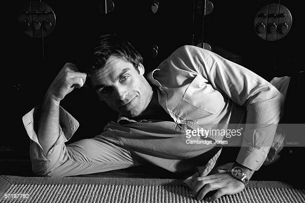Actor Jonathan Wrather poses during a photo call held on January 1 2005 at his home in London England