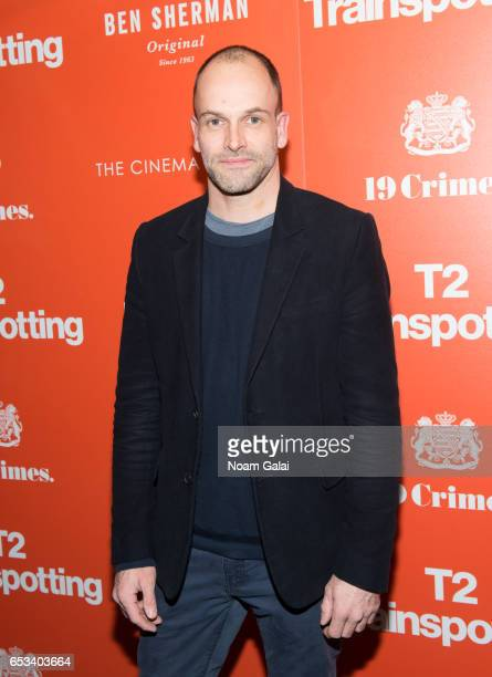 Actor Jonny Lee Miller attends a screening of T2 Trainspotting hosted by TriStar Pictures and The Cinema Society at Landmark Sunshine Cinema on March...