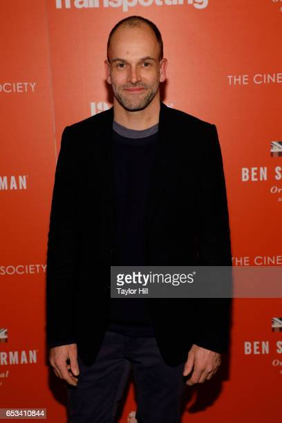 Actor Jonny Lee Miller attends a TriStar and Cinema Society screening of 'T2 Trainspotting' at Landmark Sunshine Cinema on March 14 2017 in New York...