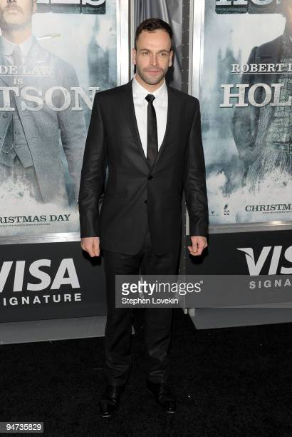 Actor Jonny Lee Miller attends the premiere of Sherlock Holmes at the Alice Tully Hall Lincoln Center on December 17 2009 in New York City