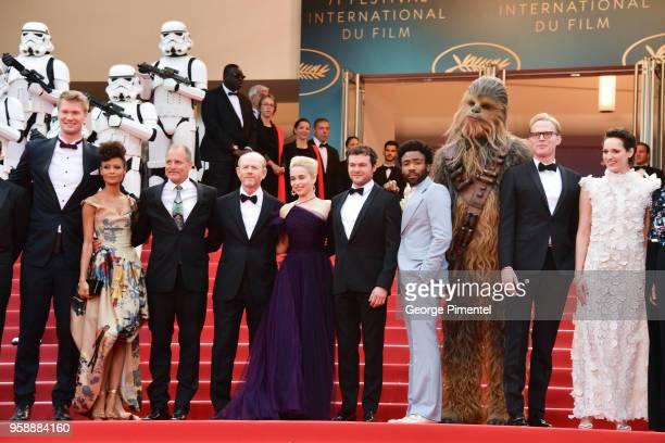 Actor Joonas Suotamo, actress Thandie Newton, actor Woody Harrelson, director Ron Howard, actress Emilia Clarke, actor Alden Ehrenreich, actor Donald...