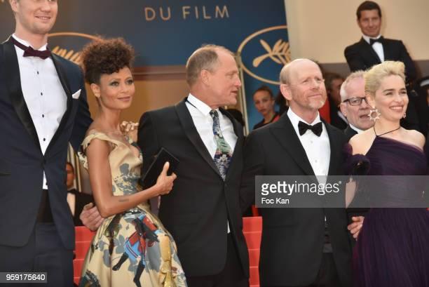 Actor Joonas Suotamo actress Thandie Newton actor Woody Harrelson director Ron Howard actress Emilia Clarke actor Alden Ehrenreich actor Donald...