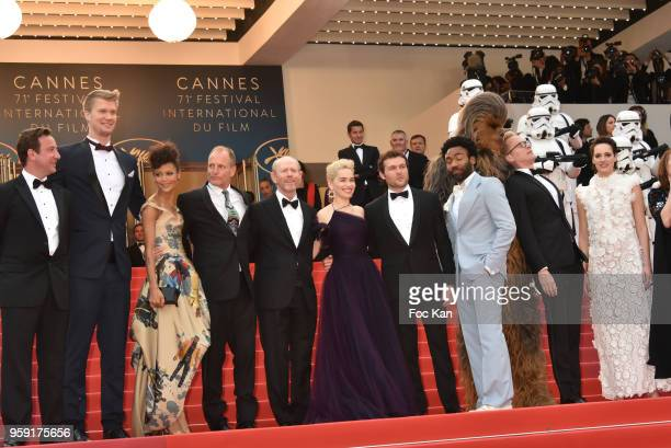 Actor Joonas Suotamo actress Thandie Newton actor Woody Harrelson director Ron Howard actress Emilia Clarke actor Alden Ehrenreich actor Donald...