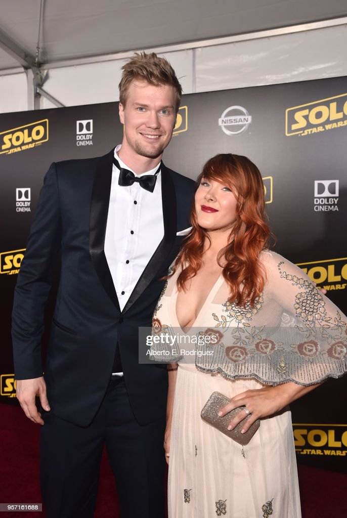 """Actor Joonas Suotamo (L) and Milla Pohjasvaara attend the world premiere of """"Solo: A Star Wars Story"""" in Hollywood on May 10, 2018."""