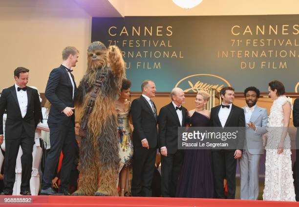 Actor Joonas Suotamo Chewbacca actor Woody Harrelson director Ron Howard actress Emilia Clarke actor Alden Ehrenreich actor Donald Glover actress...