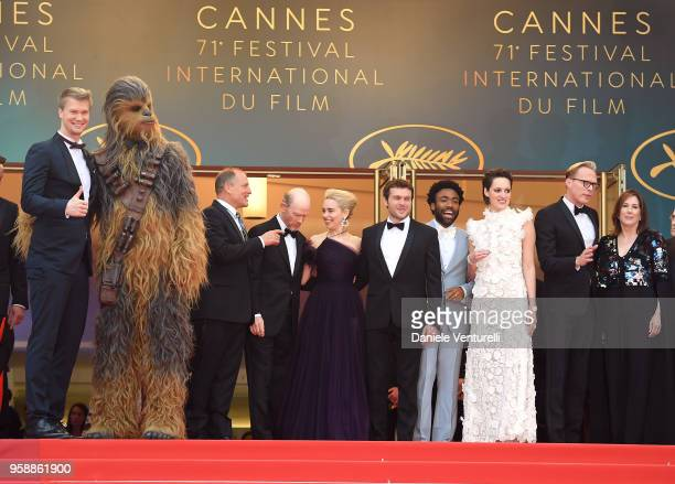 Actor Joonas Suotamo Chewbacca Woody Harrelson director Ron Howard Emilia Clarke Alden Ehrenreich Donald Glover Phoebe WallerBridge Paul Bettany and...