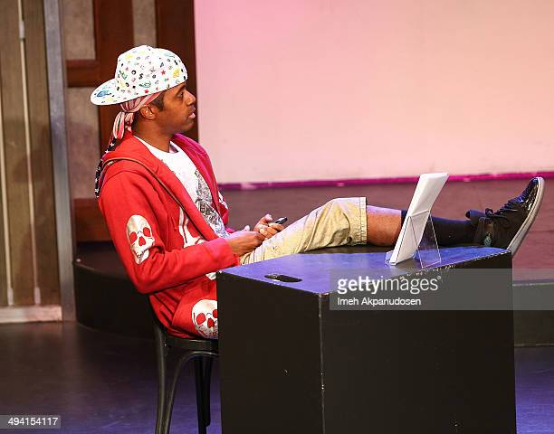 Actor Jordan Black performs onstage at The Groundlings Theatre's celebration of their 40th Anniversary with '2000's Decade Night' at The Groundlings...