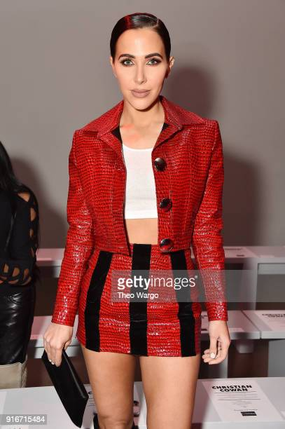 Actor Jordan Duffy attends the Christian Cowan fashion show during New York Fashion Week The Shows at Gallery II at Spring Studios on February 10...