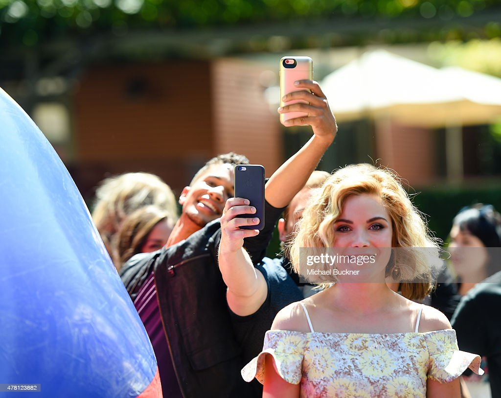 Actor Jordan Fisher (L) and actress Grace Phipps attends the premiere of Disney Channel's 'Teen Beach 2' at Walt Disney Studios on June 22, 2015 in Burbank, California.