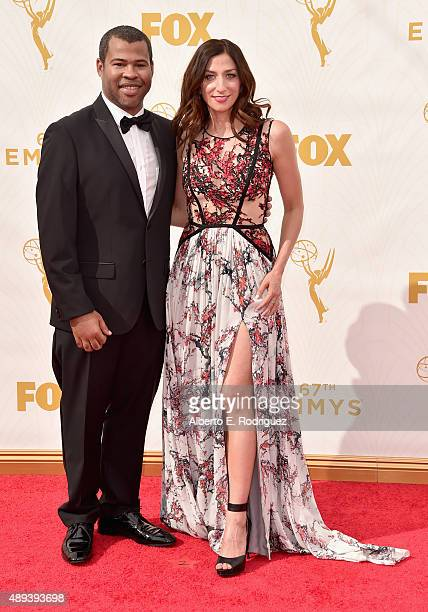 Actor Jordan Peele and Chelsea Peretti attend the 67th Emmy Awards at Microsoft Theater on September 20 2015 in Los Angeles California 25720_001