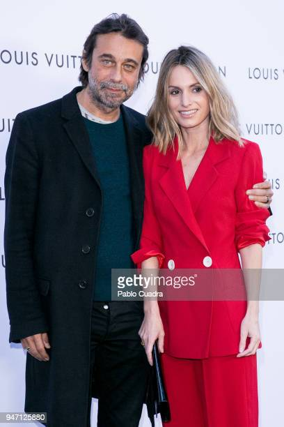Actor Jordi Molla and Andrea Pascual attend the 'Time Capsule' Inauguration party at ThyssenBornemisza Museum on April 16 2018 in Madrid Spain