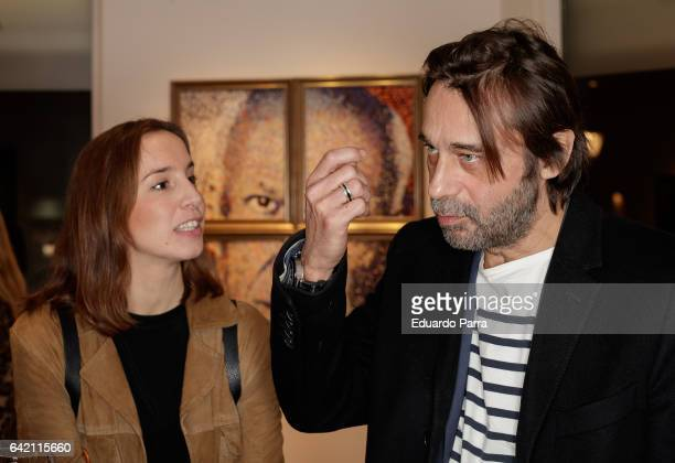 Actor Jordi Molla presentes his art exhibition at David Bardia art gallery on February 16 2017 in Madrid Spain