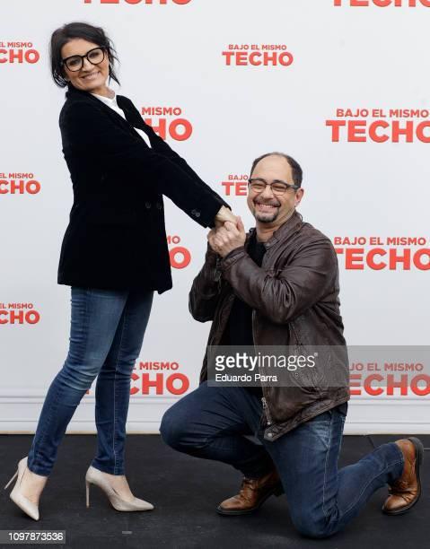 Actor Jordi Sanchez and actress Silvia Abril attend the 'Bajo el mismo techo' photocall at La Casa Club on January 22 2019 in Madrid Spain