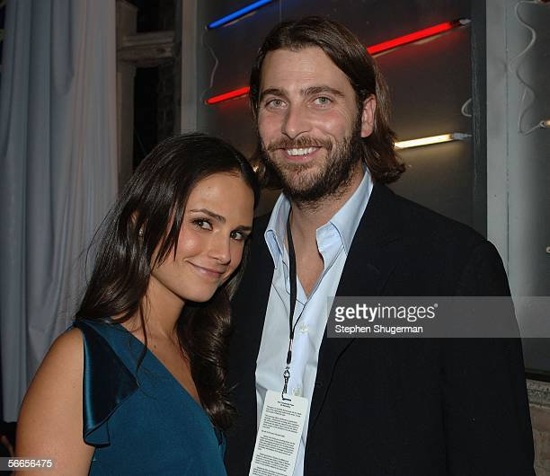 Actor Jordona Brewster and guest Andrew Form attend the after party for the premiere of the Touchstone Pictures feature Annapolis at The Highlands on...