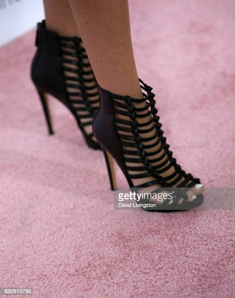 Actor Jordyn Jones shoe detail attends Day 1 of the 5th Annual Beautycon Festival Los Angeles at the Los Angeles Convention Center on August 12 2017...