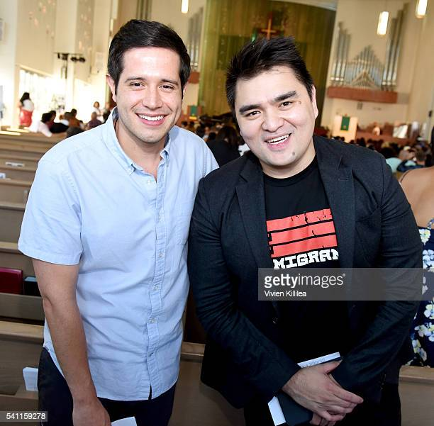 Actor Jorge Diaz and journalist Jose Antonio Vargas attend I Am An Immigrant A Celebration Of Our Stories a live performance celebrating immigrants...