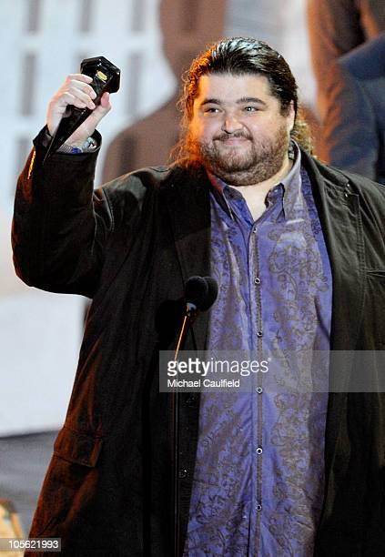 Actor Jorge Garcia accepts the Discretionary award onstage during Spike TV's Scream 2010 at The Greek Theatre on October 16 2010 in Los Angeles...