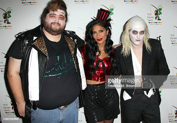 Actor Jorge Garcia actress Nicole Scherzinger and actor Lucas Grabeel attend The Rocky Horror Picture Show 35th anniversary tribute at the Wiltern...