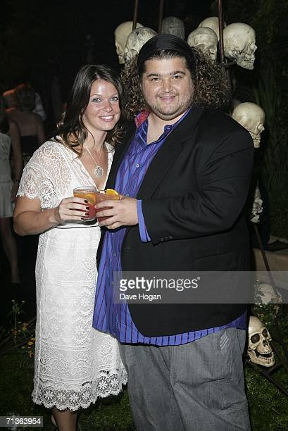 Actor Jorge Garcia and girlfriend Malia Hansen attend the after party following the European Premiere of Pirates Of The Caribbean Dead Man's Chest at...